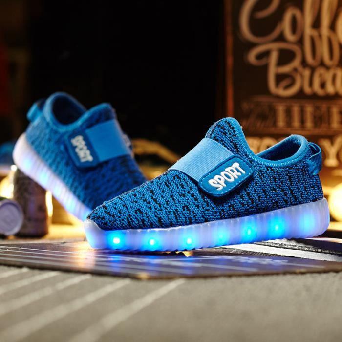 3ec60961ba3d0 Chaussures LED Lumière Pour Enfants Sport pointure 32 BLEU Bleu ...