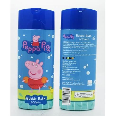 peppa pig enfants bain moussant 400ml enfants salle de bain bulles achat vente bain moussant. Black Bedroom Furniture Sets. Home Design Ideas