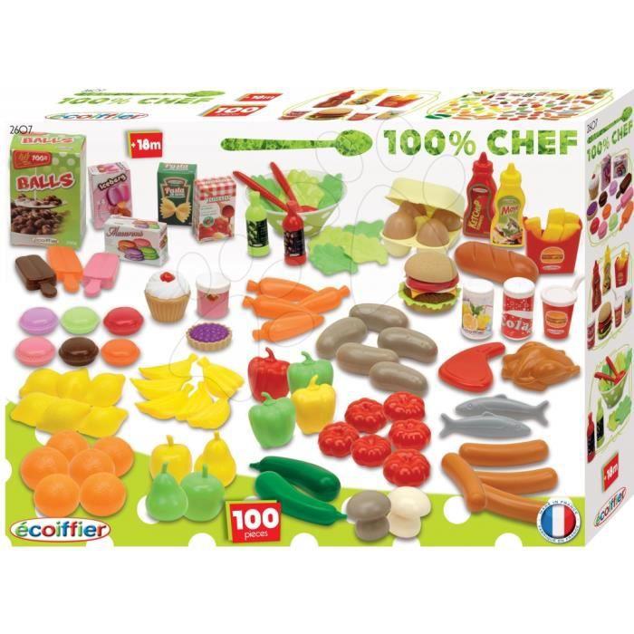 ecoiffier chef coffret 100 l gumes et fruits achat vente dinette cuisine cdiscount. Black Bedroom Furniture Sets. Home Design Ideas
