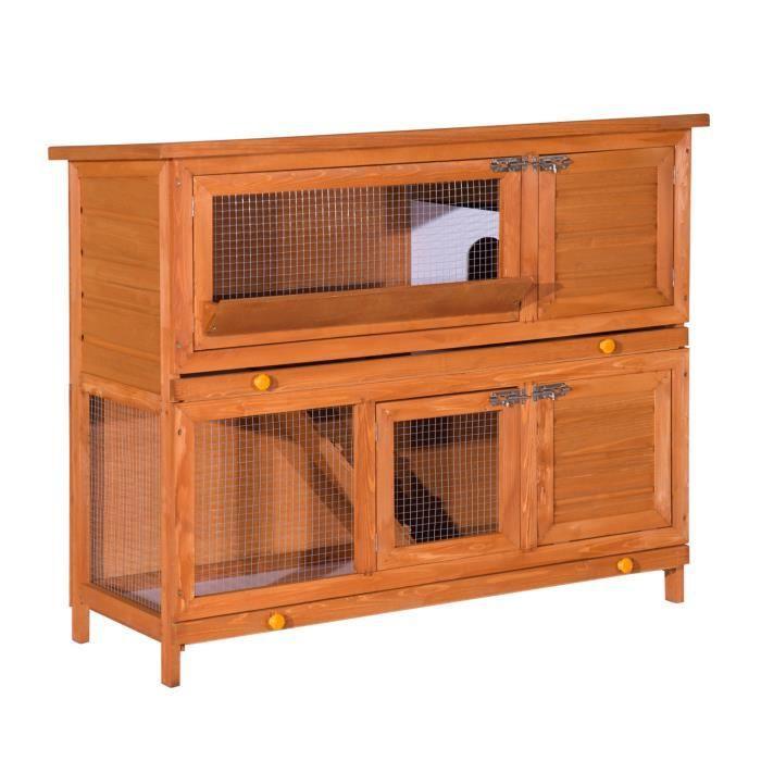 cage a lapin poulailler clapier en bois de pin de achat vente cage cage a lapin poulailler. Black Bedroom Furniture Sets. Home Design Ideas