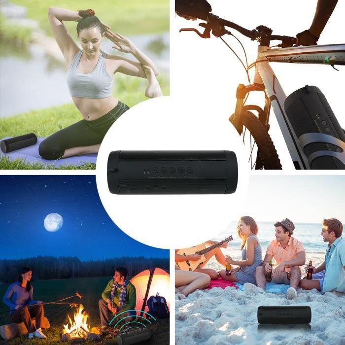 Haut-parleur-enceinte Bluetoothe Sans Fil Portable 180 * 63 63mm -noir