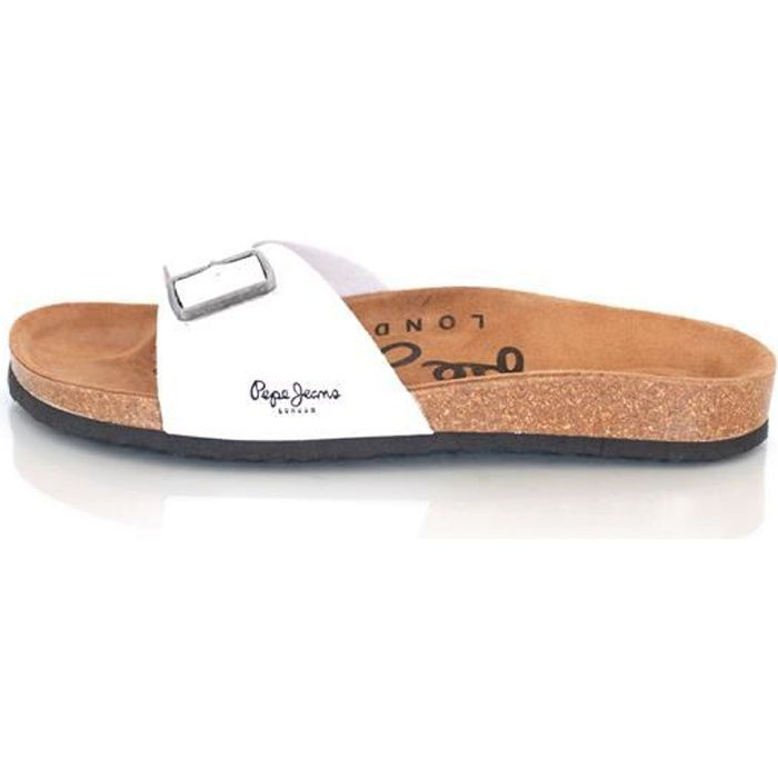 d7aa55b1647 MULES PEPE JEANS POUR HOMME MODE... Blanc Blanc - Achat   Vente mule ...