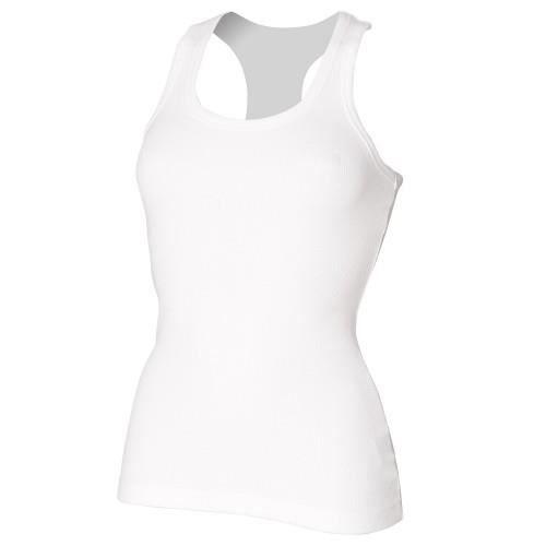 0fe0f9488361c Skinni Fit - Débardeur long - Femme Blanc - Achat / Vente débardeur ...