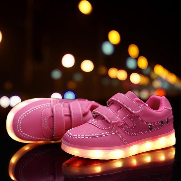 LED allumée baskets chaussures occasionnelles p...