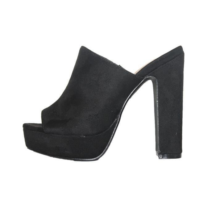 sandales talon haut noire