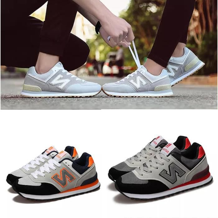 Lover Chaussures de Course Sports Fitness Gym athlétique Femme Baskets Sneakers Homme
