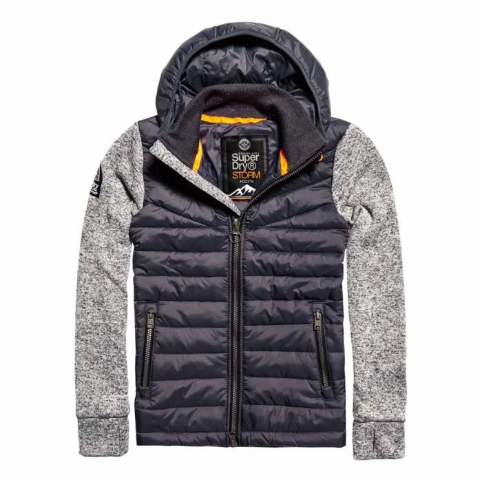 Storm Achat Superdry Homme Tricots Hybrid Gris Vêtements UO7aw
