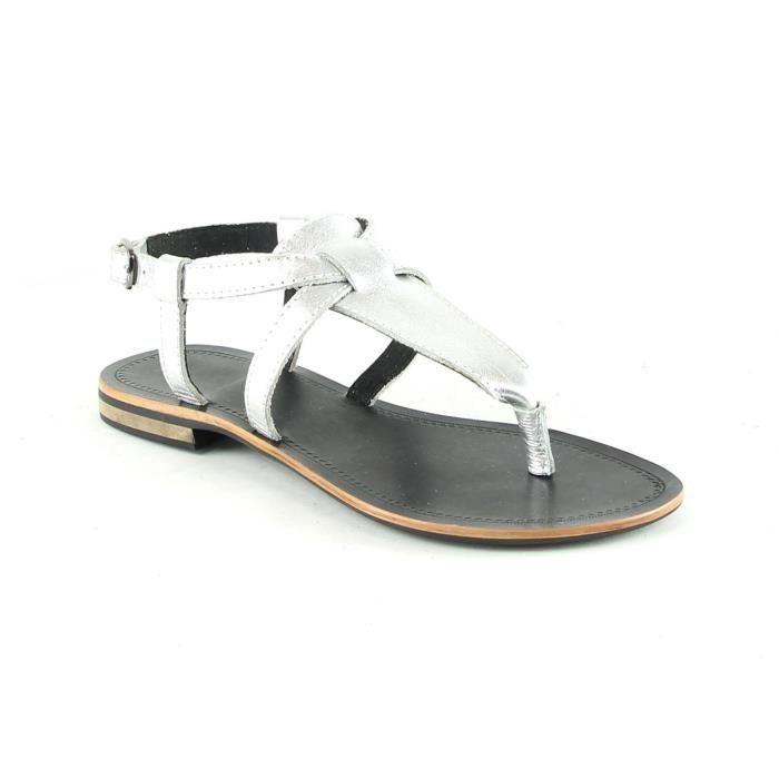 Itaca - Nu pieds en cuir - argent