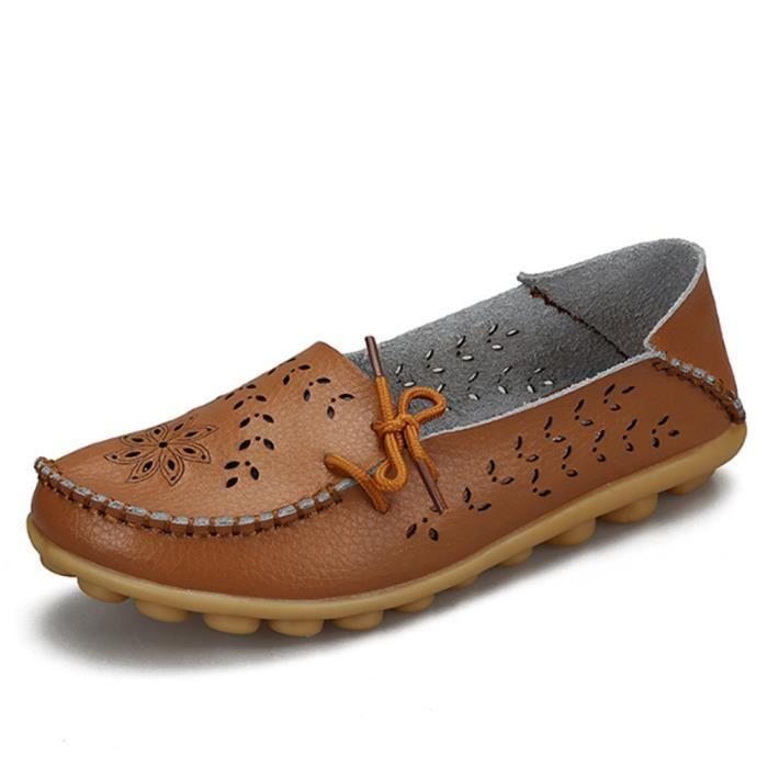 Chaussures femmes De Marque De Luxe Qualité Loafer ete Confortable Poids Léger femme Moccasins Grande Taille Chaussures Loafer 7ZiauM