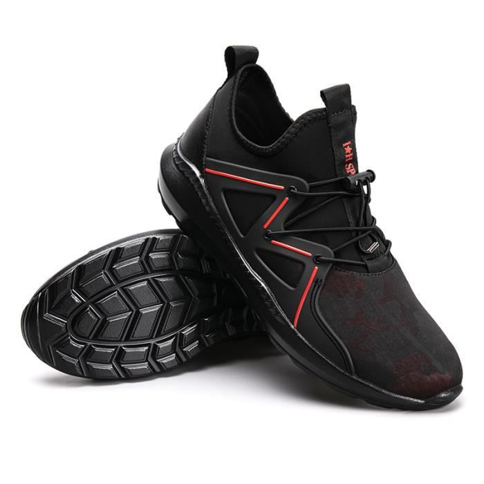 Baskets Homme Chaussure hiver Jogging Sport Ultra Léger Respirant Chaussures BBZH-XZ228Rouge42