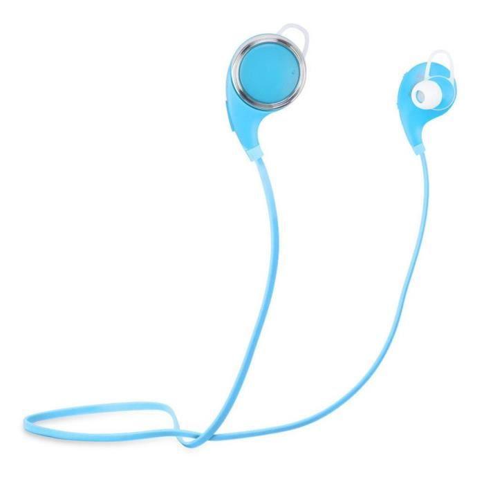 Q8 Sans Fil Bluetooth Écouteurs Antibruit Sport Casque D'écoute Bleu