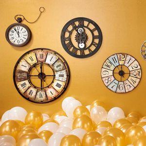 horloge murale chiffres romains achat vente horloge. Black Bedroom Furniture Sets. Home Design Ideas