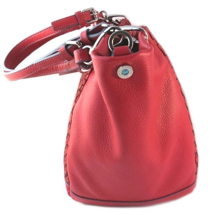 Sac cuir 2 en 1 Gabs rouge (M) - 38x25x18 cm [P1507]