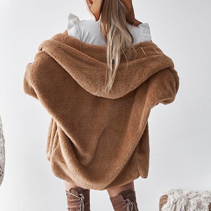 D'hiver Veste Capuche Pardessus Femmes Outwear Cardigan Fluffy Manteau Jumper Dm4697 1PxtgqIU