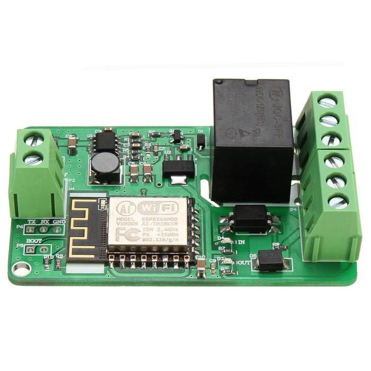 esp8266 10a 220v r seau relais wifi module contribution dc 7v 30v 65x40x18mm achat vente. Black Bedroom Furniture Sets. Home Design Ideas