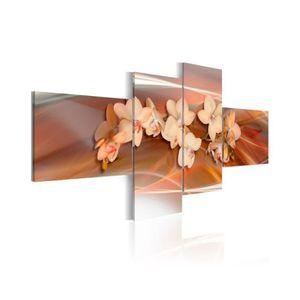 TABLEAU - TOILE Tableau Orchidée Blanche Sur Le Fond D'Automne - D