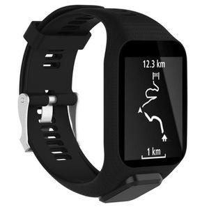 BRACELET DE MONTRE Bracelet de montre courroie bande noir pour TomTom