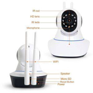 CAMÉRA IP Caméra IP Wifi Sans fil 720P IR de Surveillance Vi
