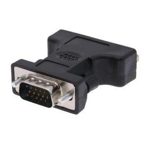 ADAPTATEUR AUDIO-VIDÉO  INECK® Adaptateur DVI FEMELLE (DVI-D 24+5) - VGA M