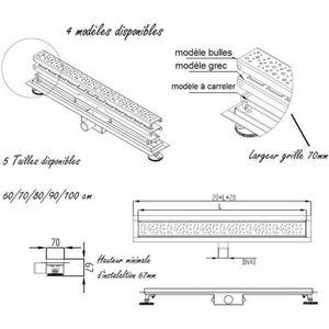 70 cm mod le carreler caniveau de douche italienne - Caniveau de douche a carreler ...