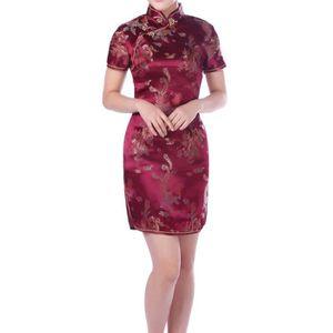 41d113ce059 ROBE Femme Robe Courte Elégante Robe de Soirée Chinoise
