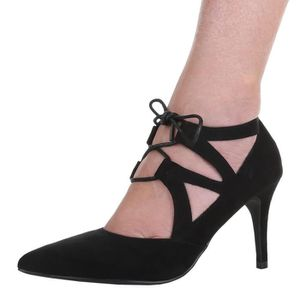 ESCARPIN Chaussures femmes Escarpins Talon haut Derbies noi