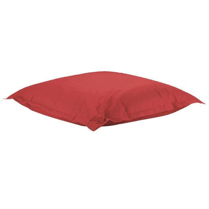 Image of ATELIERS DU LINGE Coussin XL avec toile imperméable - Rouge - Intérieur ou extérieur