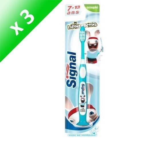 SIGNAL Lot de 3 brosses à dents pour enfants - Souple - 7 à 13 ans