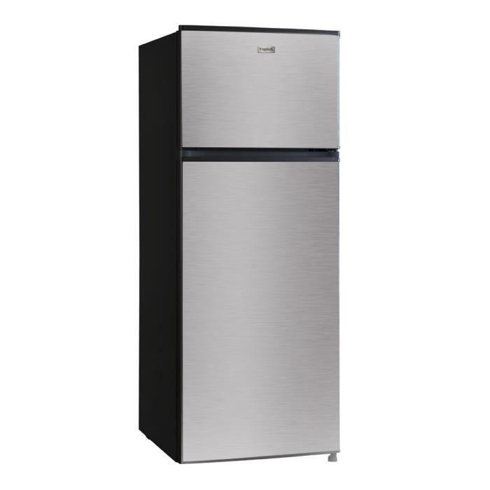 FRIGELUX Réfrigérateur - RFDP212A++VCM - Double porte 204 L - Classe A++ - Noir et inox