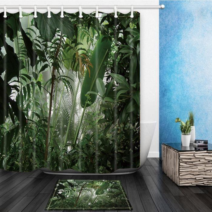 rideau de douche pour salle de bain r sistant l 39 eau. Black Bedroom Furniture Sets. Home Design Ideas