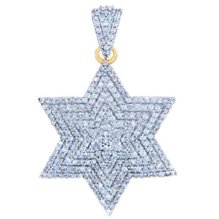 Collier Pendentif10 ct 471/1000 DiamantsCollier Pendentif avecétoile brillante Diamants (vient avec une Chaîne de 45 cm)