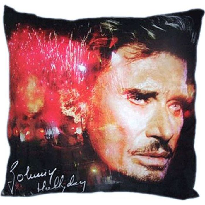 Coussin Johnny Hallyday   Achat / Vente coussin   Cdiscount
