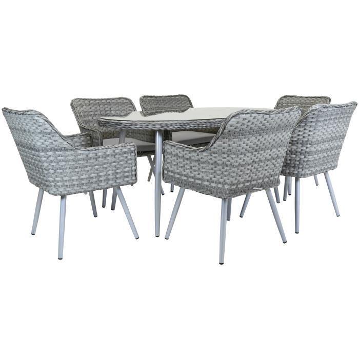 Charles Bentley - Salon de jardin de qualité - 6 fauteuils - rotin ...