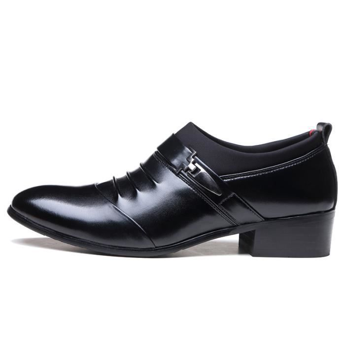 IZTPSERG Homme cuir mocassin chaussures formel flats