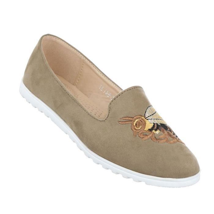 Femme chaussure bassechaussures Slipper Loafer bleu 41 G6Vzw