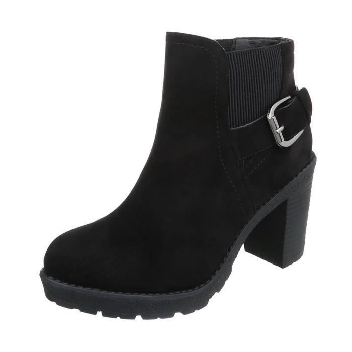 Chaussures femme bottillon bottes noir 40
