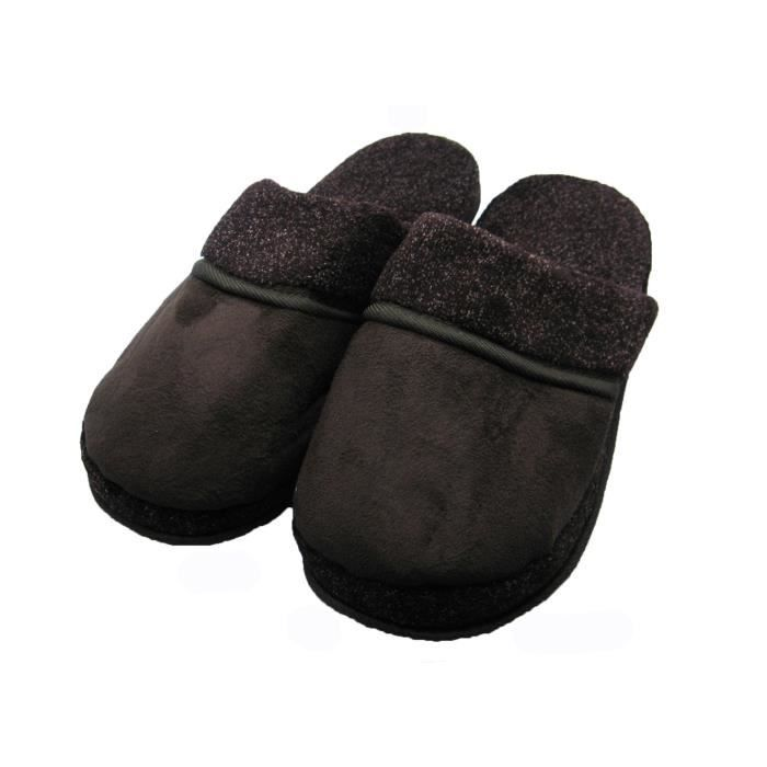 Slip On Easy Comfort Faux Suede Maison chaussons pour les hommes FGQM1 Taille-43