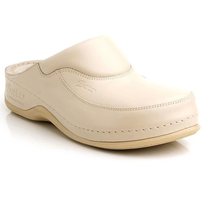 FC04 main pour femmes en cuir Mesdames Slip-on Sabots Mules CLRH2 Taille-38 1-2