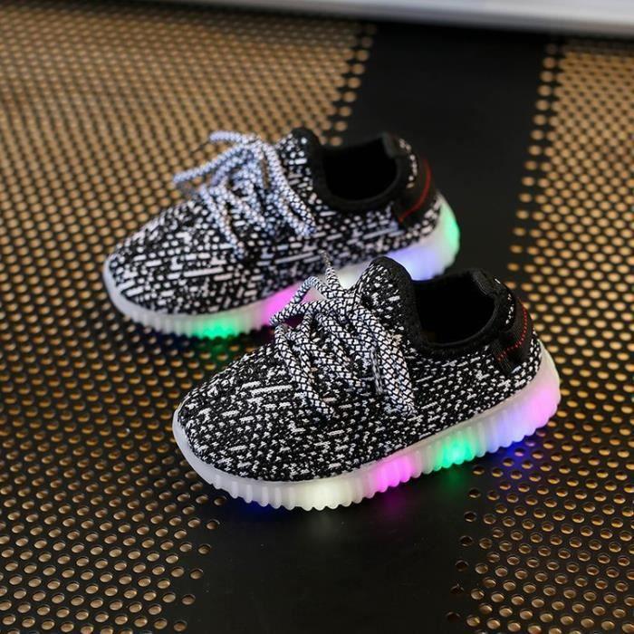 Chaussures enfant, chaussures de sport Garçon fille LED Mode