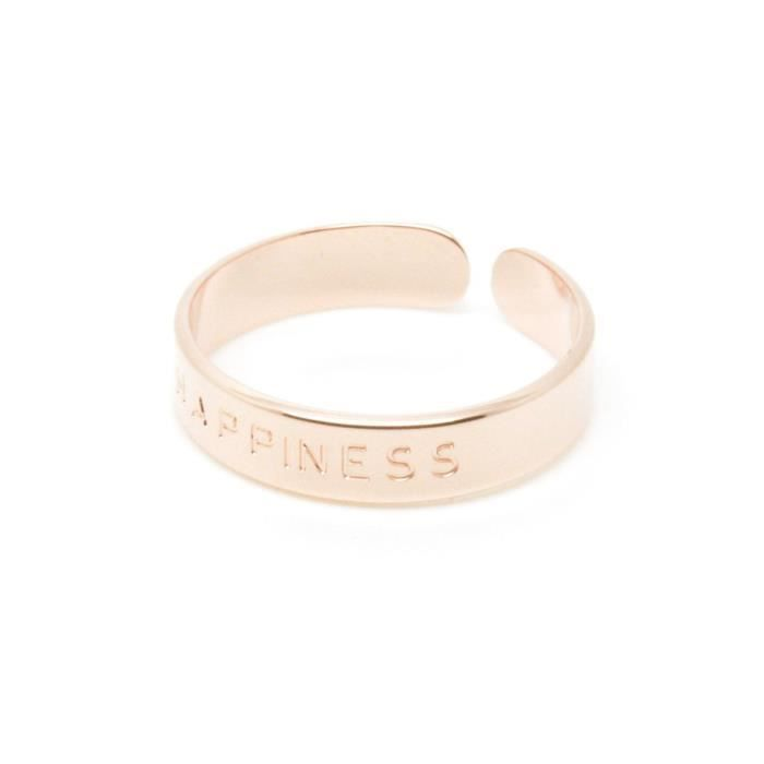 MyaBay - Bague Happiness (BA-02.P) or rosetaille -
