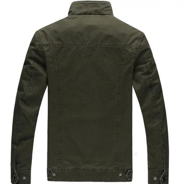 Jacket Hommes Casual noir Solid khaki Manteau Nouvelle Size Army Manches Collection Longues Plus Green Color wBqxtHXFn