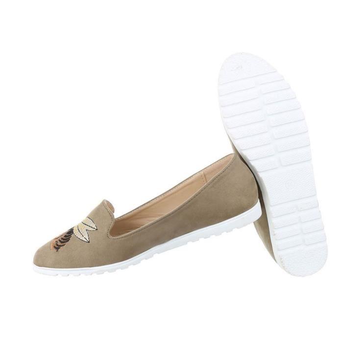 Femme chaussure bassechaussures Slipper Loafer or 41 wA65dKT