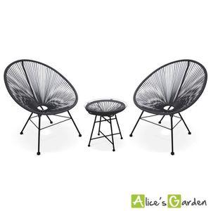 FAUTEUIL JARDIN  Ensemble de 2 fauteuils Acapulco chaise oeuf desig