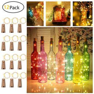 JARDIN JAPONAIS - ZEN 12 paquets de lumières de liège de bouteille de vi