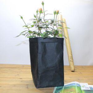 PANIER A LINGE Washable Kraft Paper Bag Plant Flowers Pots Multif