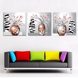 OBJET DÉCORATION MURALE 3 Panneaux Peinture Murale Cuadros Photo Peintures