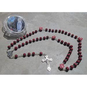 CHAPELET Chapelet en bois de rose parfumé avec boite N D de