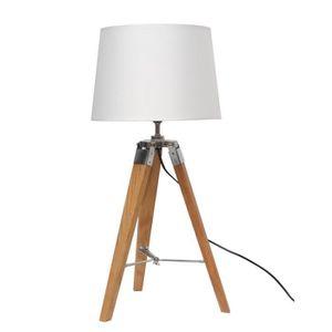 LAMPE A POSER NATURAL2 Lampe à poser avec pied tripod en bois -