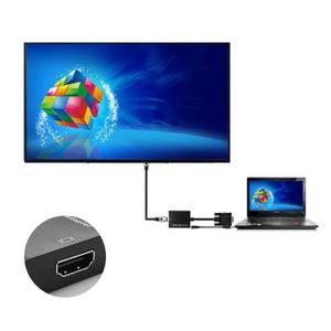 ADAPTATEUR CHARGEUR VGA mâle To HDMI Output 1080P HD+ Audio TV AV HDTV