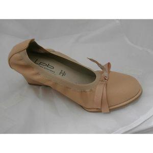ESCARPIN chaussure compense beige les ptites bombes